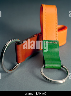 Luxury Designer Women's Key rings leather goods accessories - Stock Photo