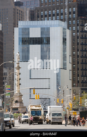 Museum of Arts and Design revamped 2008 New York City Columbus Circle - Stock Photo