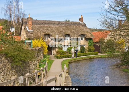 Thatched cottage at Thornton le Dale in North Yorkshire, UK - Stock Photo
