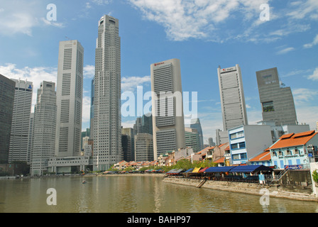 Singapur Skyline - Stock Photo