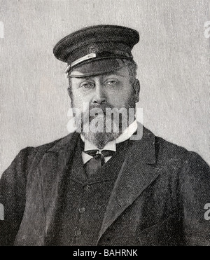 Albert Edward 1841 1910 Prince of Wales future King Edward VII of Great Britain and Ireland 1901 to 1910 - Stock Photo