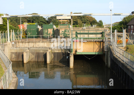 A pumping station on the coast at Lincolnshire, England, U.K. - Stock Photo