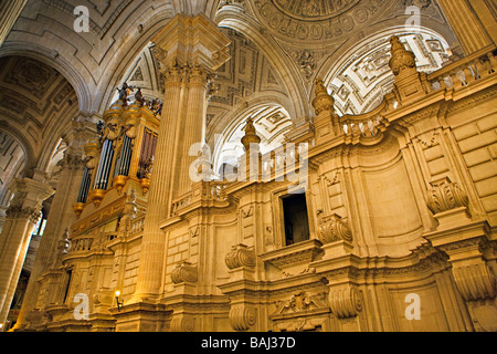 Interior of the Cathedral of Jaen Sagrario District City of Jaen Province of Jaen Andalusia Andalucia Spain Europe - Stock Photo