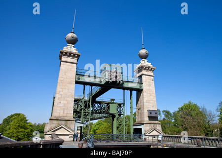 The old Henrichenburg Shiplift in the city of Waltrop, The Route of Industrial Culture , NRW,  North Rhine - Westphalia, Germany