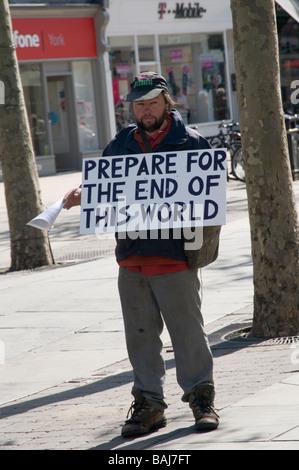 doom monger the end of the world is coming nigh looney lunatic negative attitude pessimist pessimism  doommonger - Stock Photo