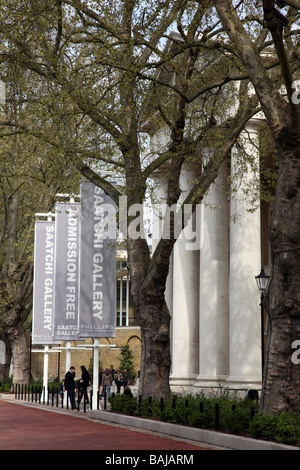 Saatchi Gallery formerly Duke of York s Barracks built in 1801 by John Sanders King s Road Chelsea London SW3 UK - Stock Photo