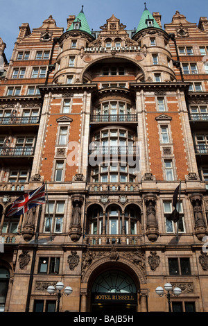 facade of the Hotel Russell, Russell Square, London, England - Stock Photo