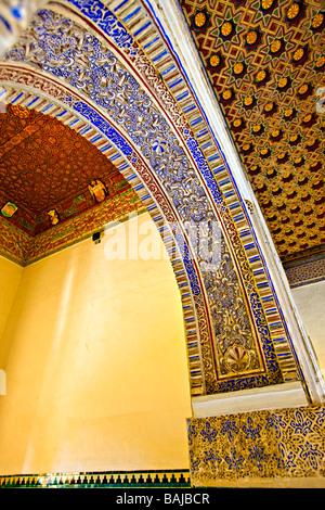Patio de las Munecas (Patio of the Dolls),Palacio Mudejar,Reales Alcazares (Royal Palaces) - UNESCO World Heritage - Stock Photo