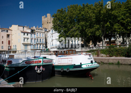 Canal de la Robine in Narbonne France - Stock Photo