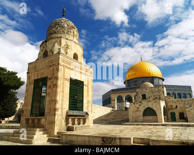 Israel Jerusalem Temple Mount Dome of the Rock mosque - Stock Photo