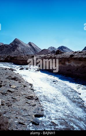 River of salt, Brandberg area, Namibia - Stock Photo
