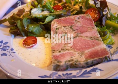 burgundian jambon persille parsley ham clos des langres ardhuy nuits-st-georges cote de nuits burgundy france - Stock Photo