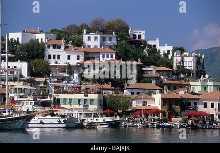 Turkey, Mediterranean region, Lycian Coast, Marmaris harbour - Stock Photo
