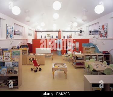 St Pancras Hospital Nursery, London, United Kingdom, Monahan Blythen Architects, St pancras hospital nursery top - Stock Photo