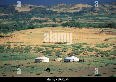 Mongolia, Övörkhangai province, sand dune - Stock Photo