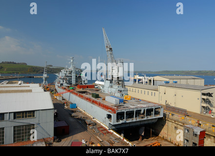 RFA Argus in Dry docks at Falmouth for refit - Stock Photo