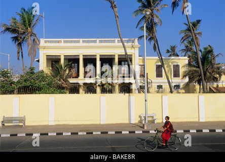 India, Pondicherry Territory, Pondicherry, French consulate - Stock Photo