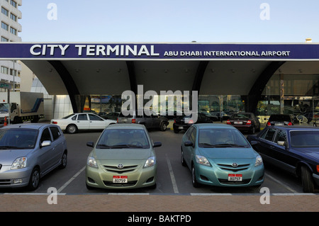 The Abu Dhabi Airport terminal - Stock Photo