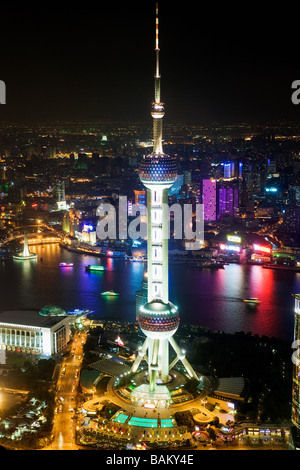 Oriental pearl tower shanghai - Stock Photo
