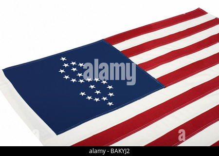 Dollar sign on american flag - Stock Photo