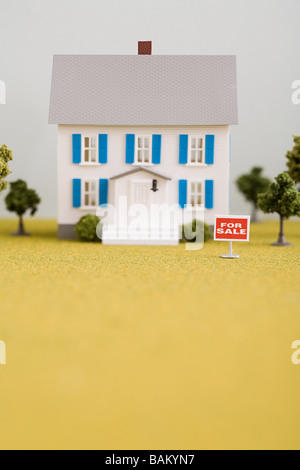 Model of house for sale - Stock Photo