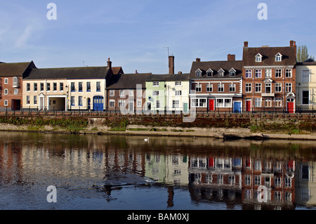 Severnside South and River Severn, Bewdley, Worcestershire, England, UK - Stock Photo