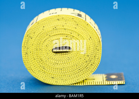 Coiled tape measure - Stock Photo