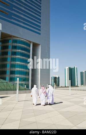 Rear view of middle eastern businessmen - Stock Photo