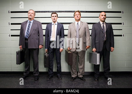 Businessmen in lineup - Stock Photo