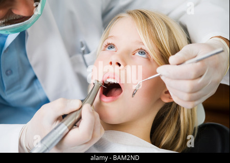 Girl and dentist - Stock Photo