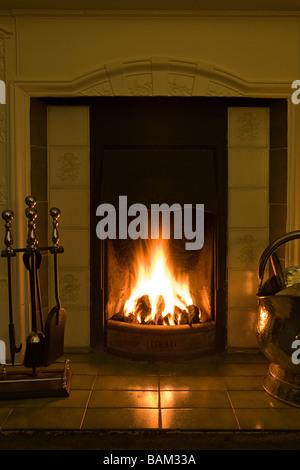 A fireplace - Stock Photo
