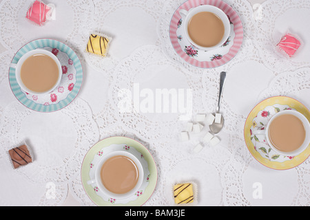 Tea and cakes - Stock Photo