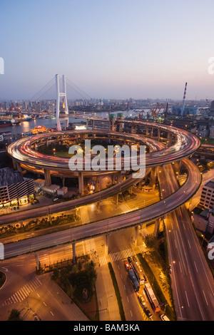 Nanpu bridge shanghai - Stock Photo
