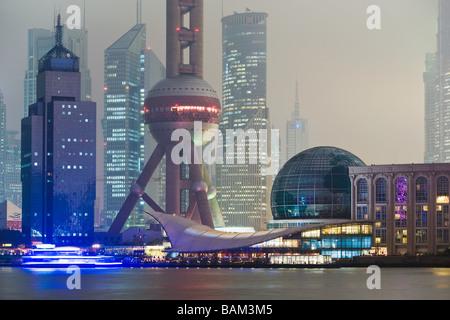 Oriental pearl tower shanghai - Stock Photo