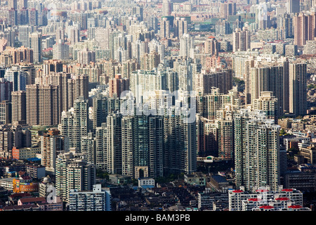 Apartment buildings in shanghai - Stock Photo