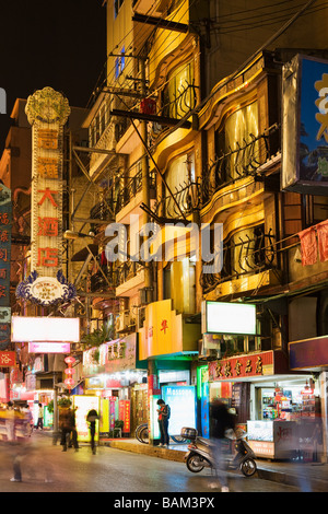 Shanghai street at night - Stock Photo