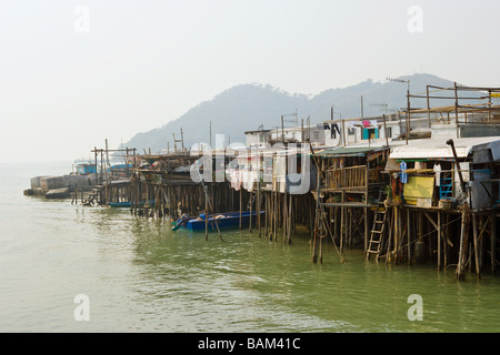 Tai o village lantau island - Stock Photo
