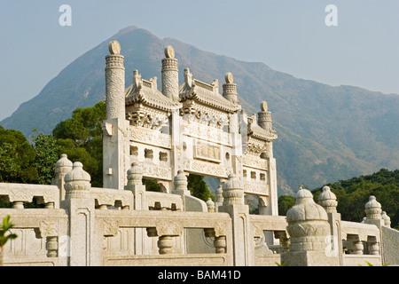 Po lin monastery lantau island - Stock Photo