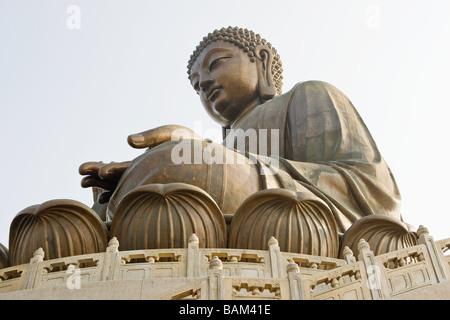 Giant buddha at po lin monastery - Stock Photo