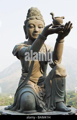 Statue at po lin monastery - Stock Photo