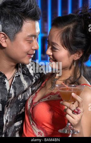 Couple In A Nightclub - Stock Photo