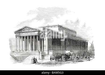 st georges hall liverpool principal front Lime Street English 1851 neoclassical style - Stock Photo