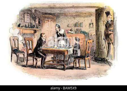 somebody turns up David Copperfield or The Personal History, Adventures, Experience and Observation charles dickens - Stock Photo