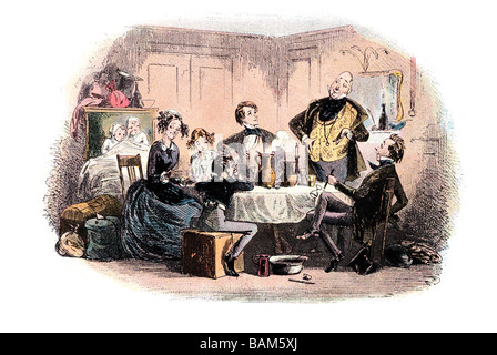 mr micawber makes some valedictory remarks David Copperfield or The Personal History, Adventures, Experience and - Stock Photo