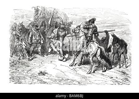 chapter XI 11 eleven Don quixote spanish novel Alonso Quixano Cervantes literature quest - Stock Photo