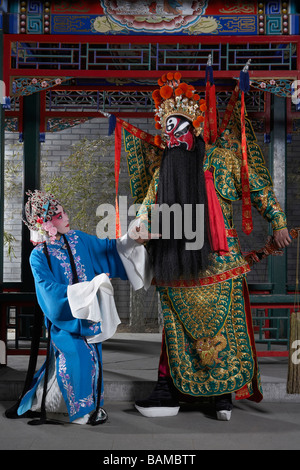 Man And Woman In Ceremonial Costume - Stock Photo