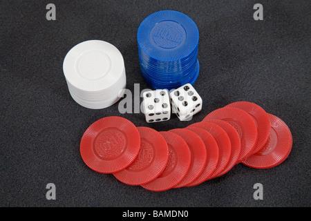 A winner dice showing eleven spots - Stock Photo