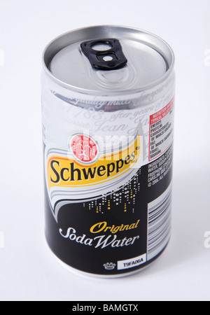 schweppes soda small can - Stock Photo
