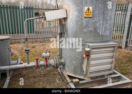 A methane burner at the old landfill site in Clitheroe Lancashire UK - Stock Photo