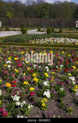 the historic parterre gardens in the grounds of antrim castle county antrim northern ireland uk - Stock Photo